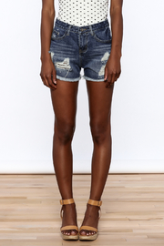 NU New York Acid Washed Denim Shorts - Side cropped
