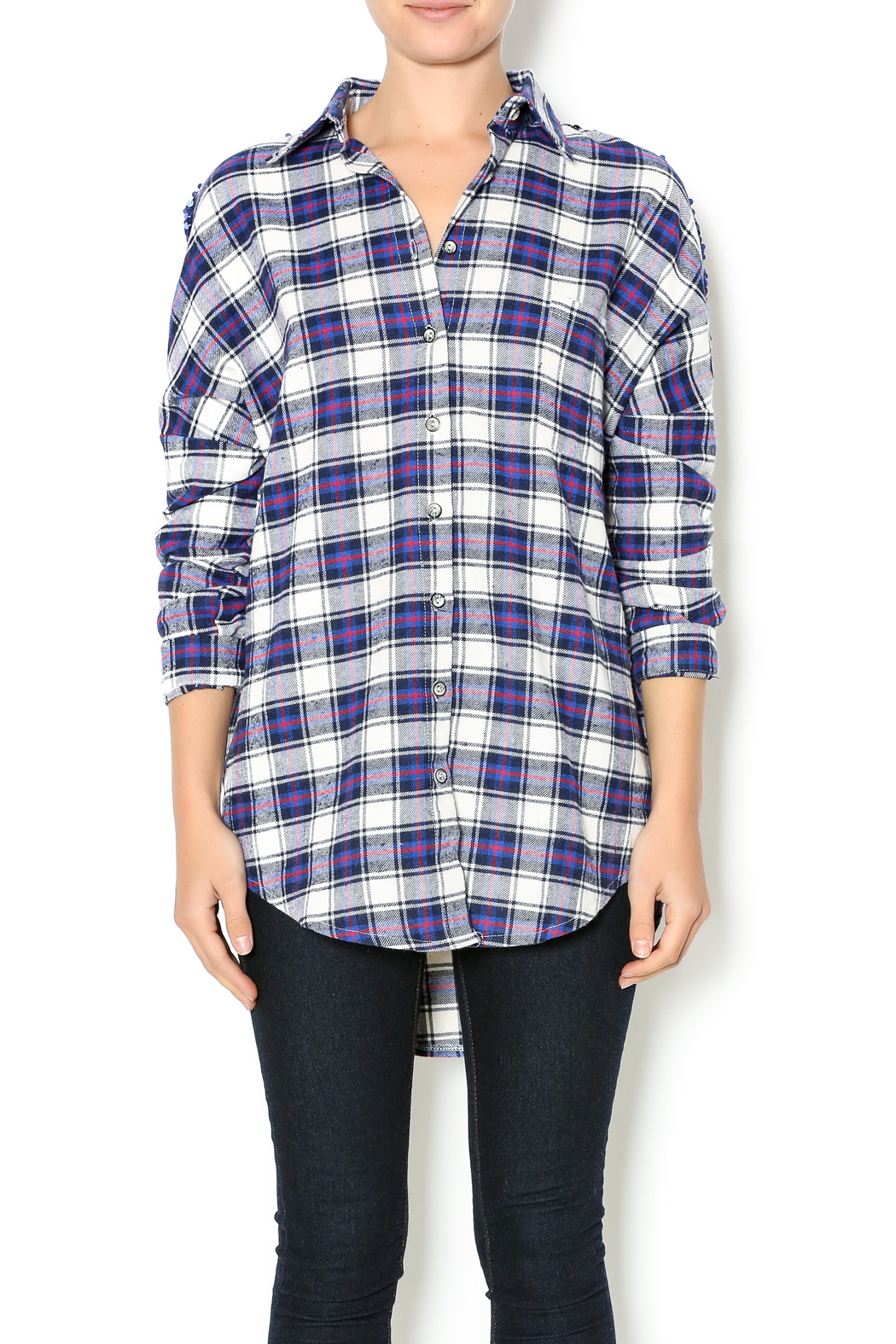 NU New York Artist Flannel - Front Cropped Image
