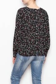 NU New York Back Button Printed Blouse - Back cropped