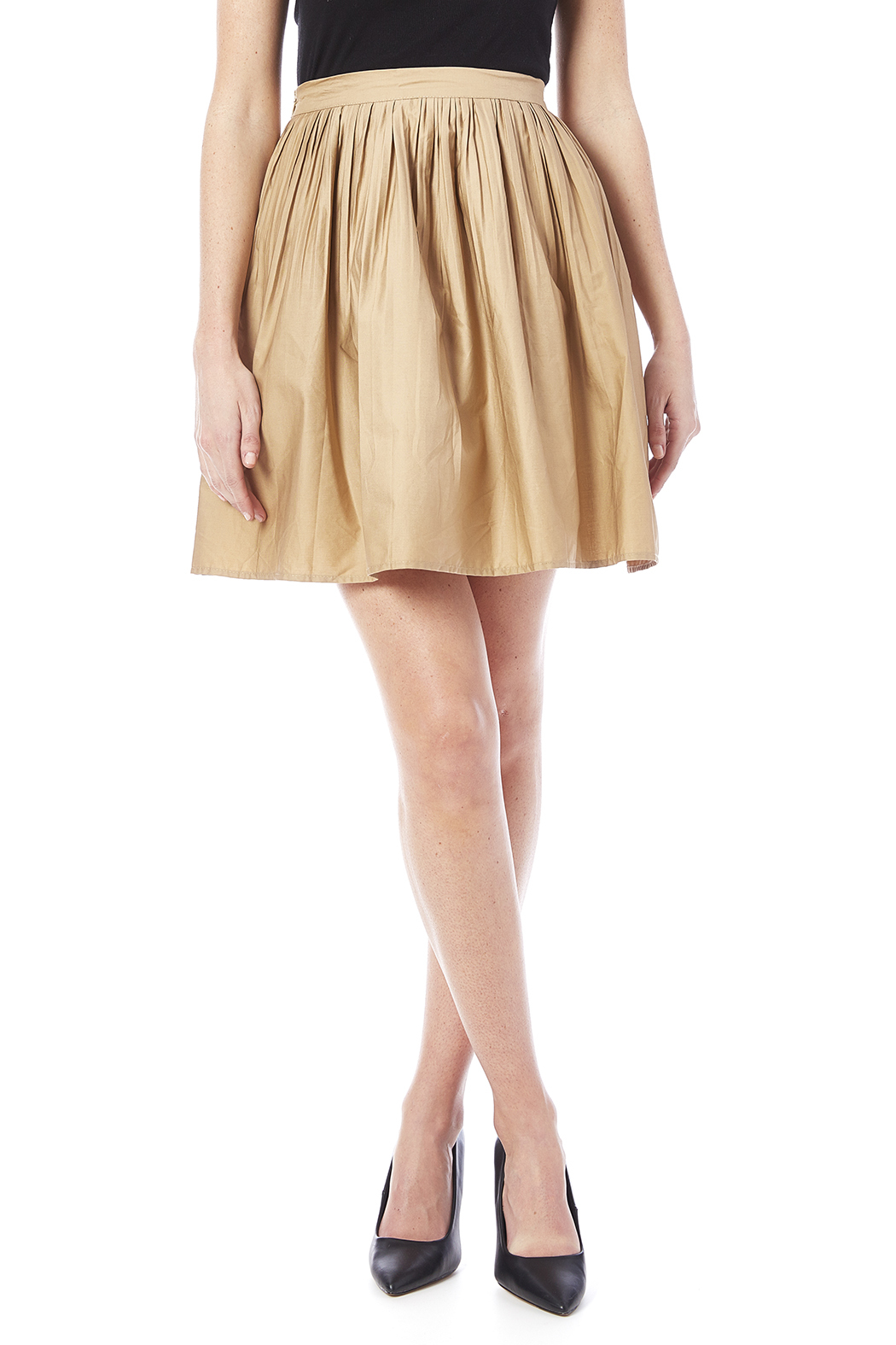 NU New York Beige Skirt - Main Image