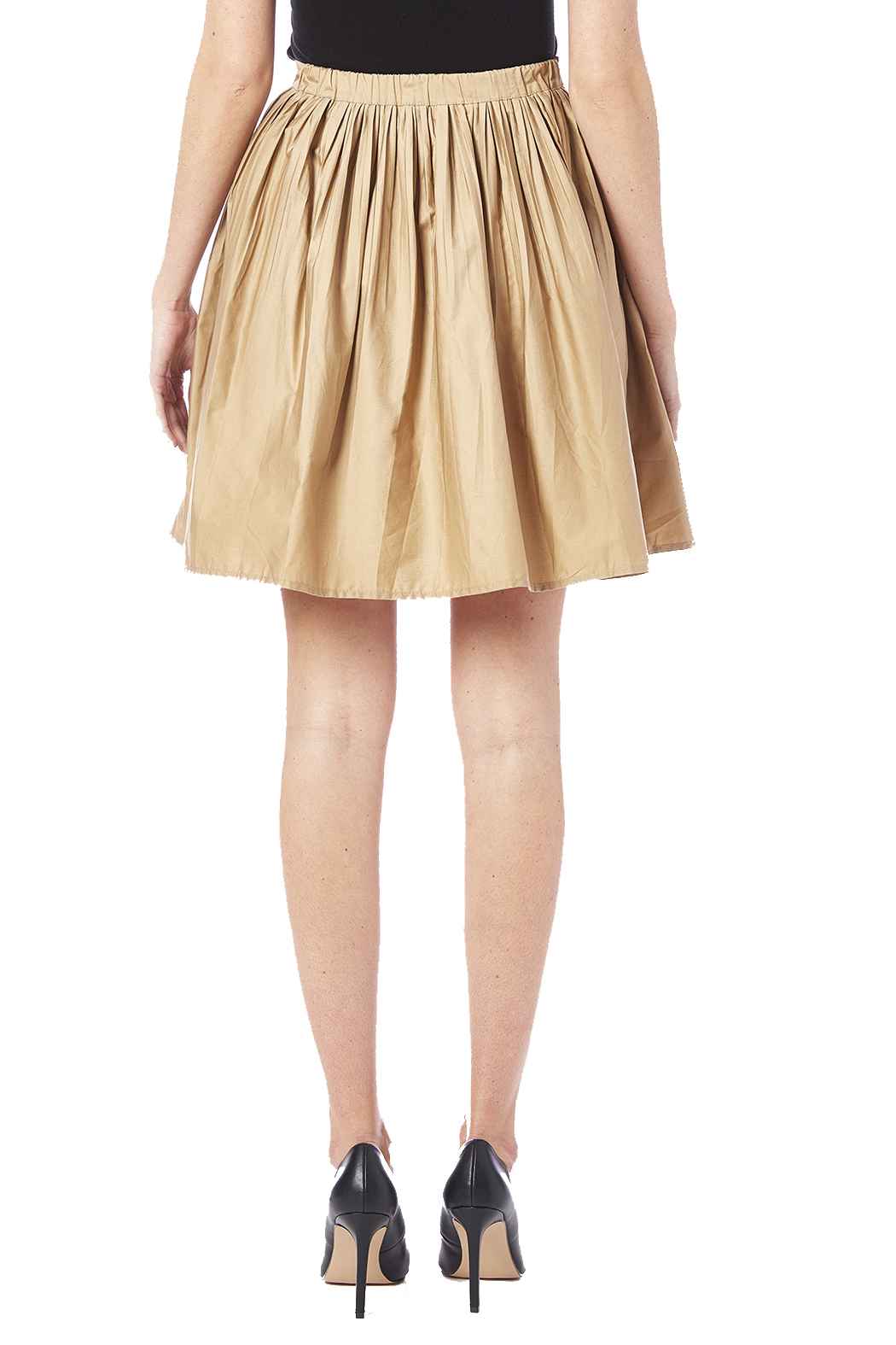 NU New York Beige Skirt - Back Cropped Image