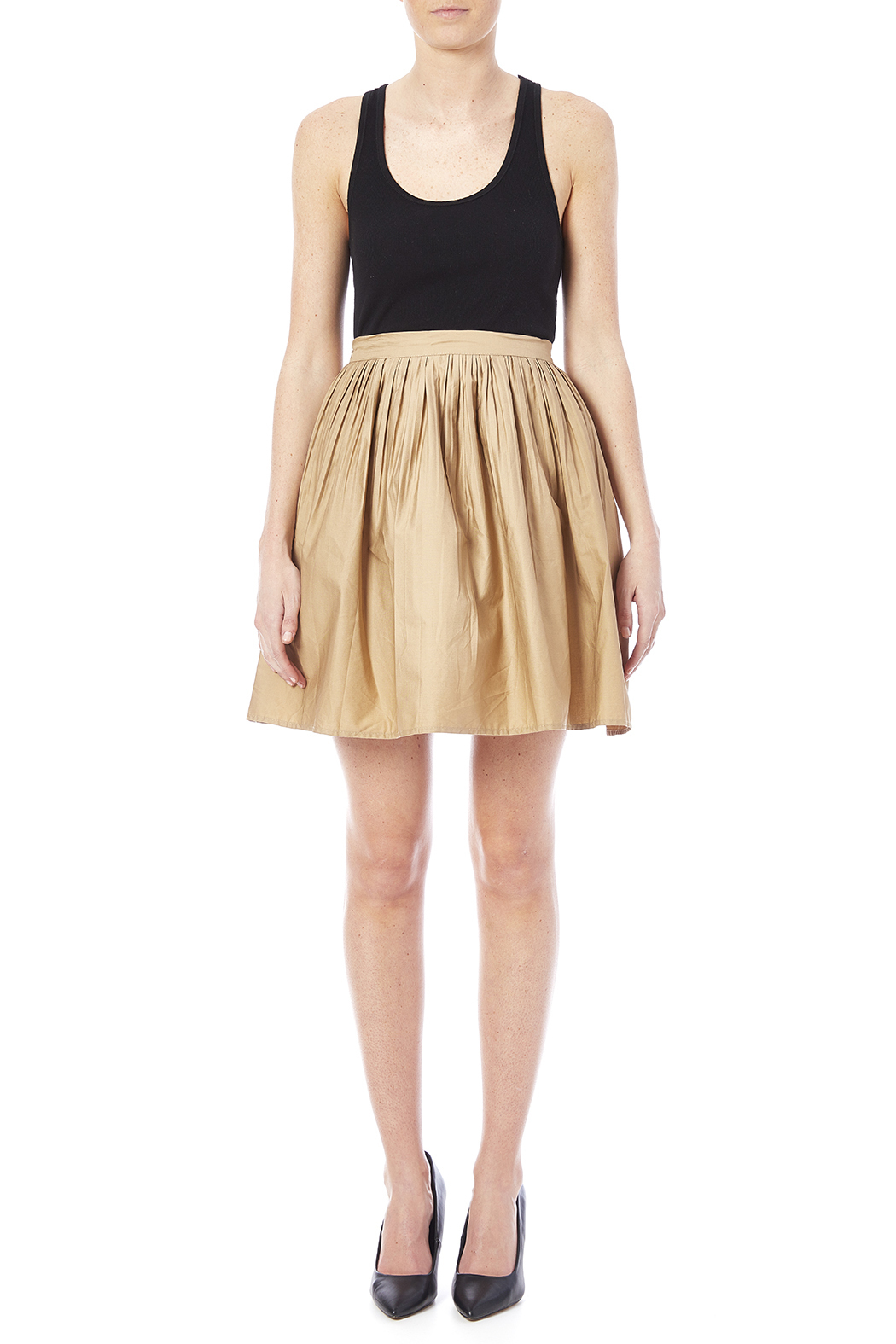 NU New York Beige Skirt - Front Full Image