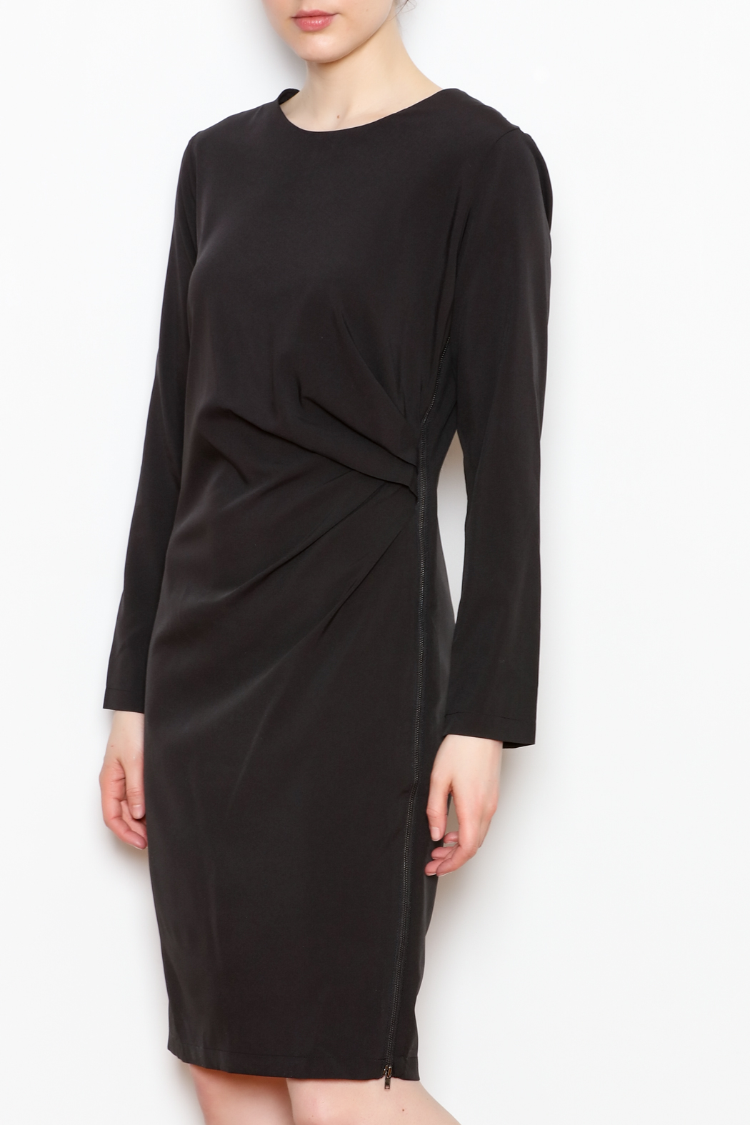 NU New York Black Zipper Dress - Front Cropped Image