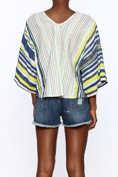 NU New York Bohemian Style Striped Top - Alternate List Image