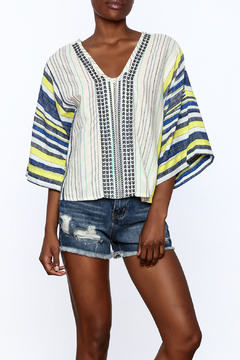 Shoptiques Product: Bohemian Style Striped Top