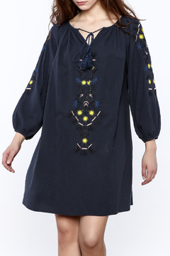 Shoptiques Product: Navy Boho Mini Dress