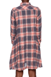 NU New York Button Down Plaid Dress - Back cropped
