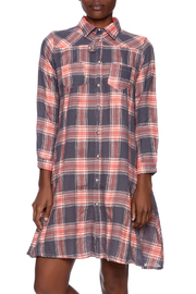 NU New York Button Down Plaid Dress - Product Mini Image