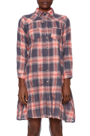 NU New York Button Down Plaid Dress - Side cropped