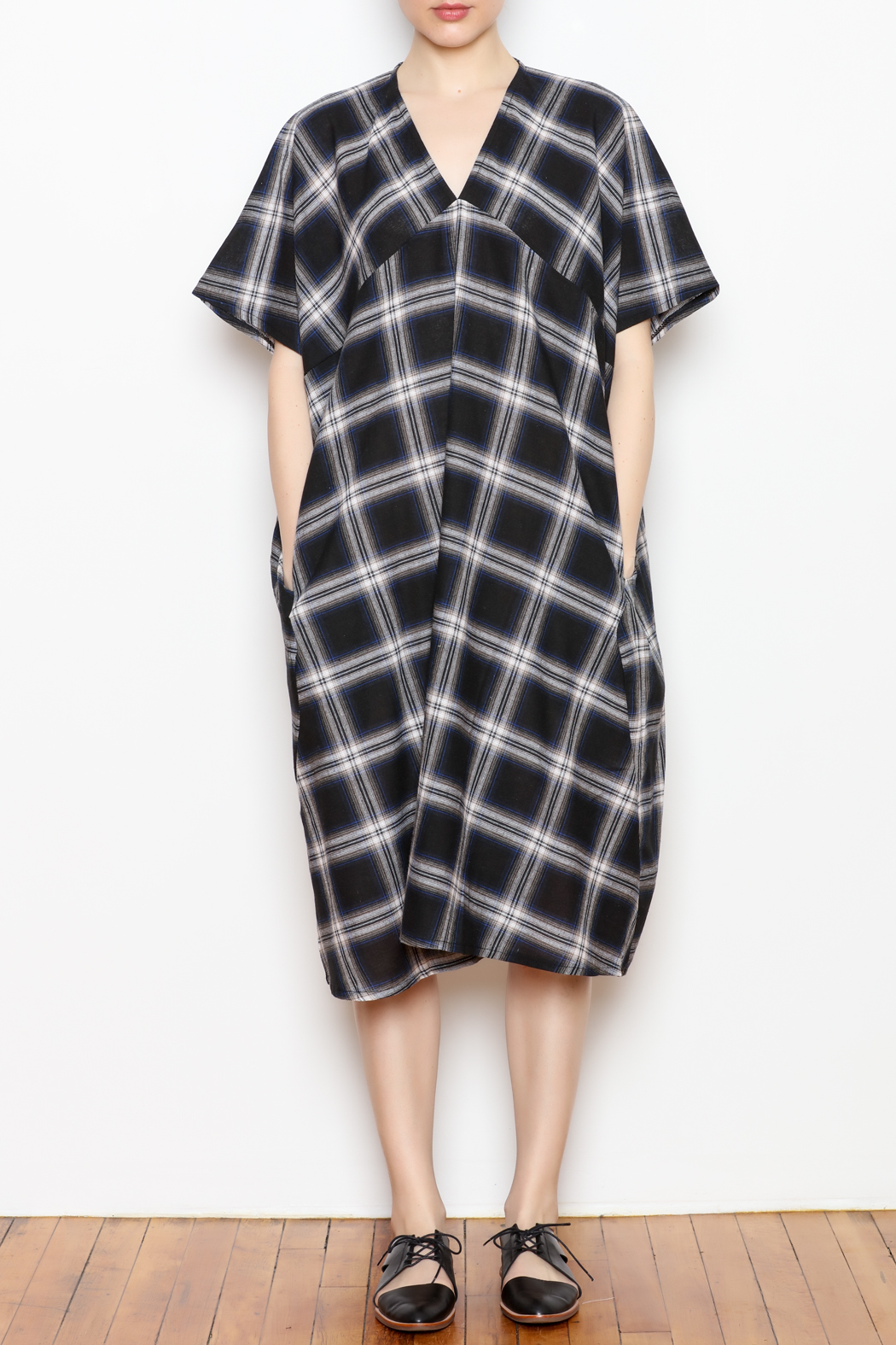 NU New York Checker Dress - Front Cropped Image