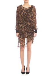 NU New York Chiffon Leopard Dress - Side cropped