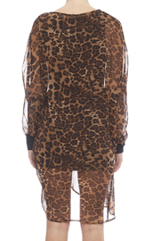 NU New York Chiffon Leopard Dress - Back cropped