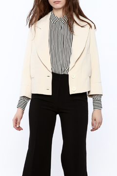 Shoptiques Product: Cream Cropped Blazer