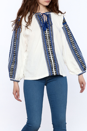 NU New York Embroidered Boho Top - Product Mini Image