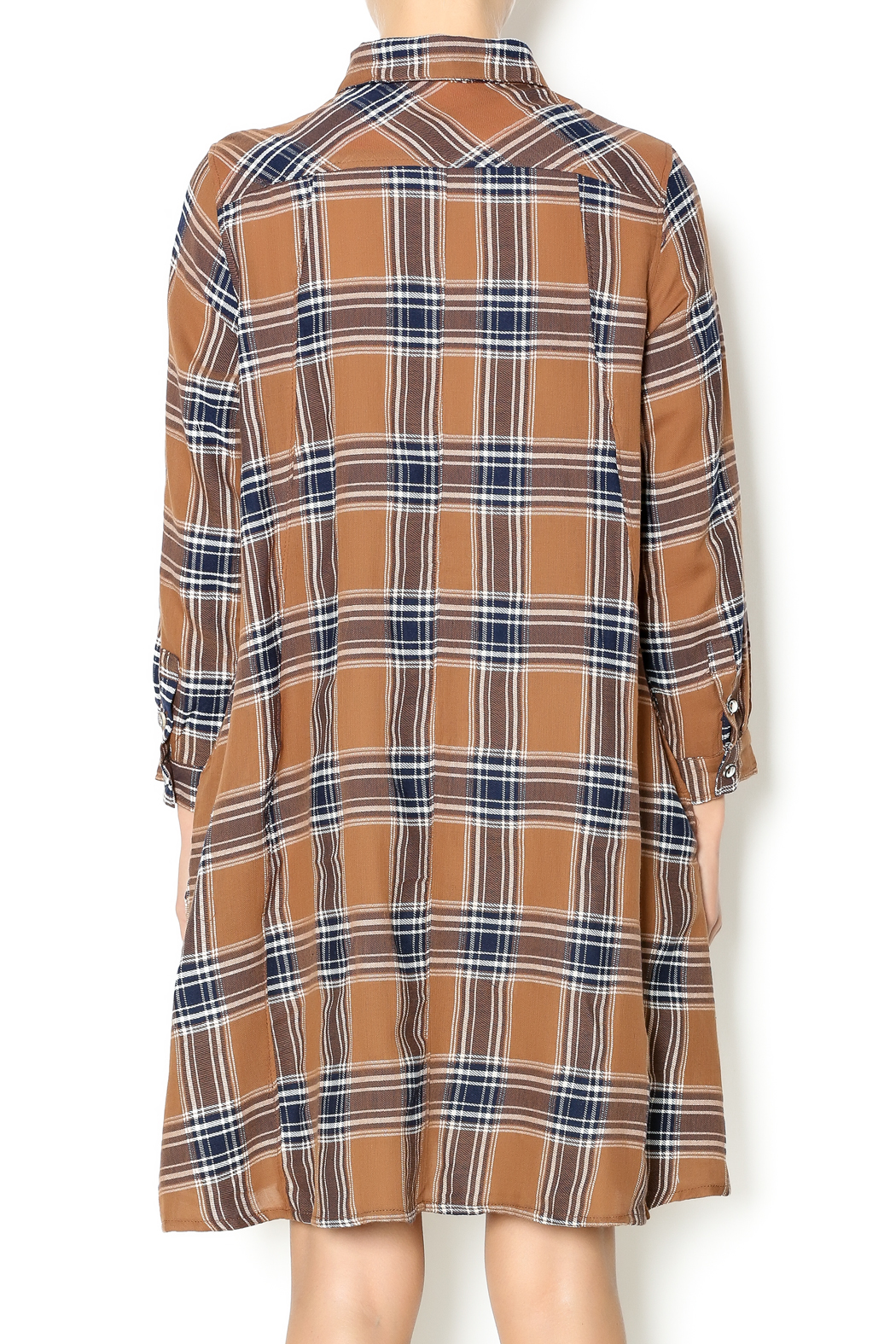 NU New York Fearless Flannel Dress - Back Cropped Image