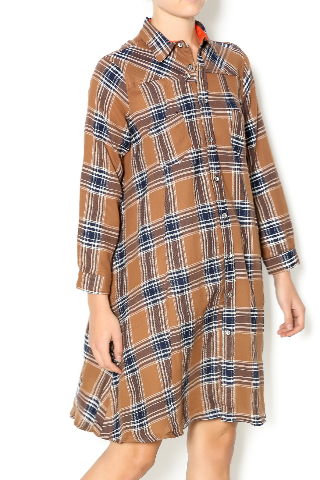 NU New York Fearless Flannel Dress - Main Image