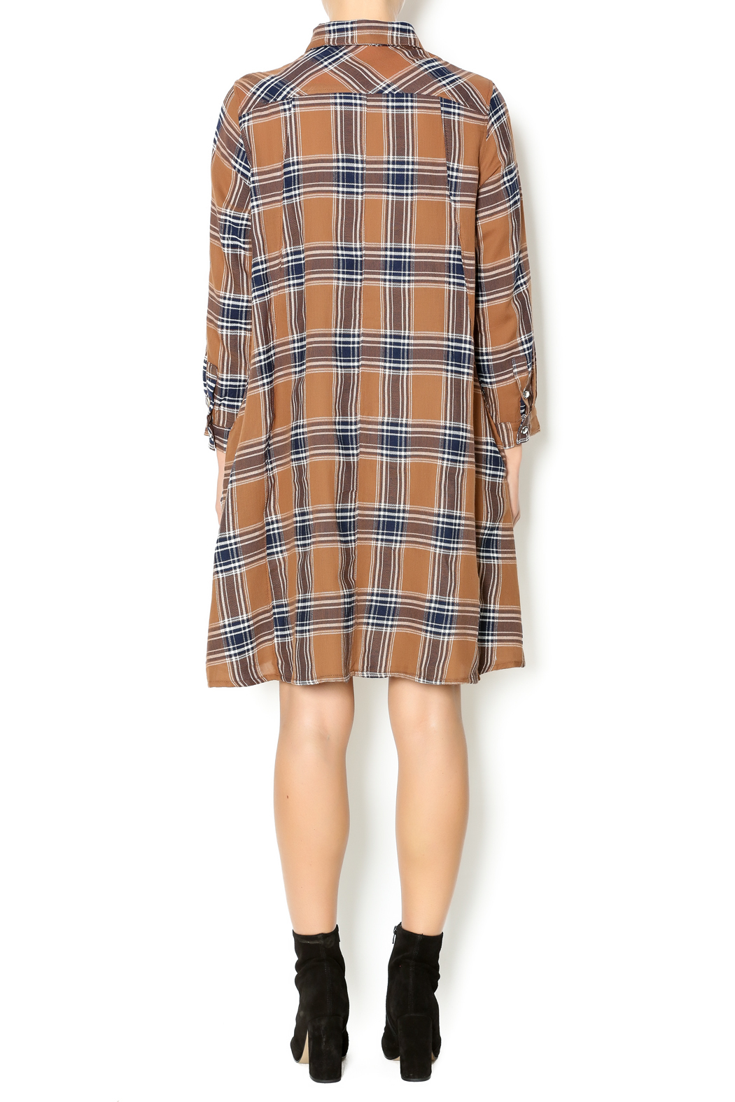 NU New York Fearless Flannel Dress - Side Cropped Image