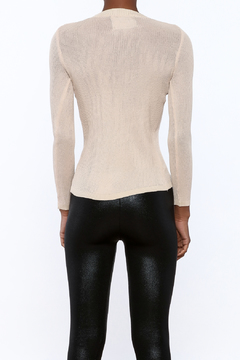 Shoptiques Product: Fitted ribbed Sheer Top