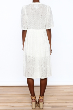 NU New York Flowy Eyelet White Dress - Alternate List Image
