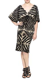 NU New York Ink Paper Kimono Dress - Front full body