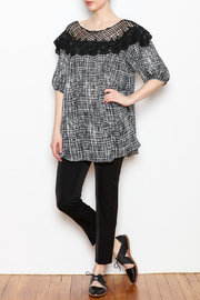 NU New York Lace Print Top - Front full body
