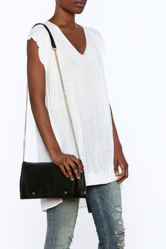NU New York Long White Knit Top - Product List Image