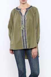 Shoptiques Product: Navy On Green Top