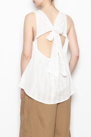 NU New York Open Back Bow Top - Product Mini Image