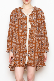 NU New York Paisley Tunic Dress - Front cropped