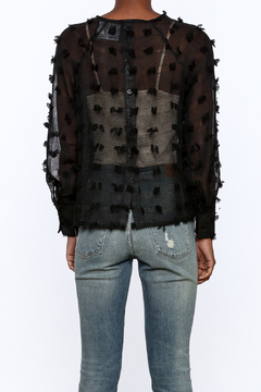 NU New York Sheer Top With Pompoms - Alternate List Image