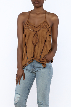 Shoptiques Product: Suedette Sleeveless Top