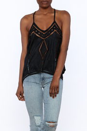 NU New York Suedette Sleeveless Top - Front cropped