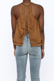 NU New York Suedette Sleeveless Top - Back cropped
