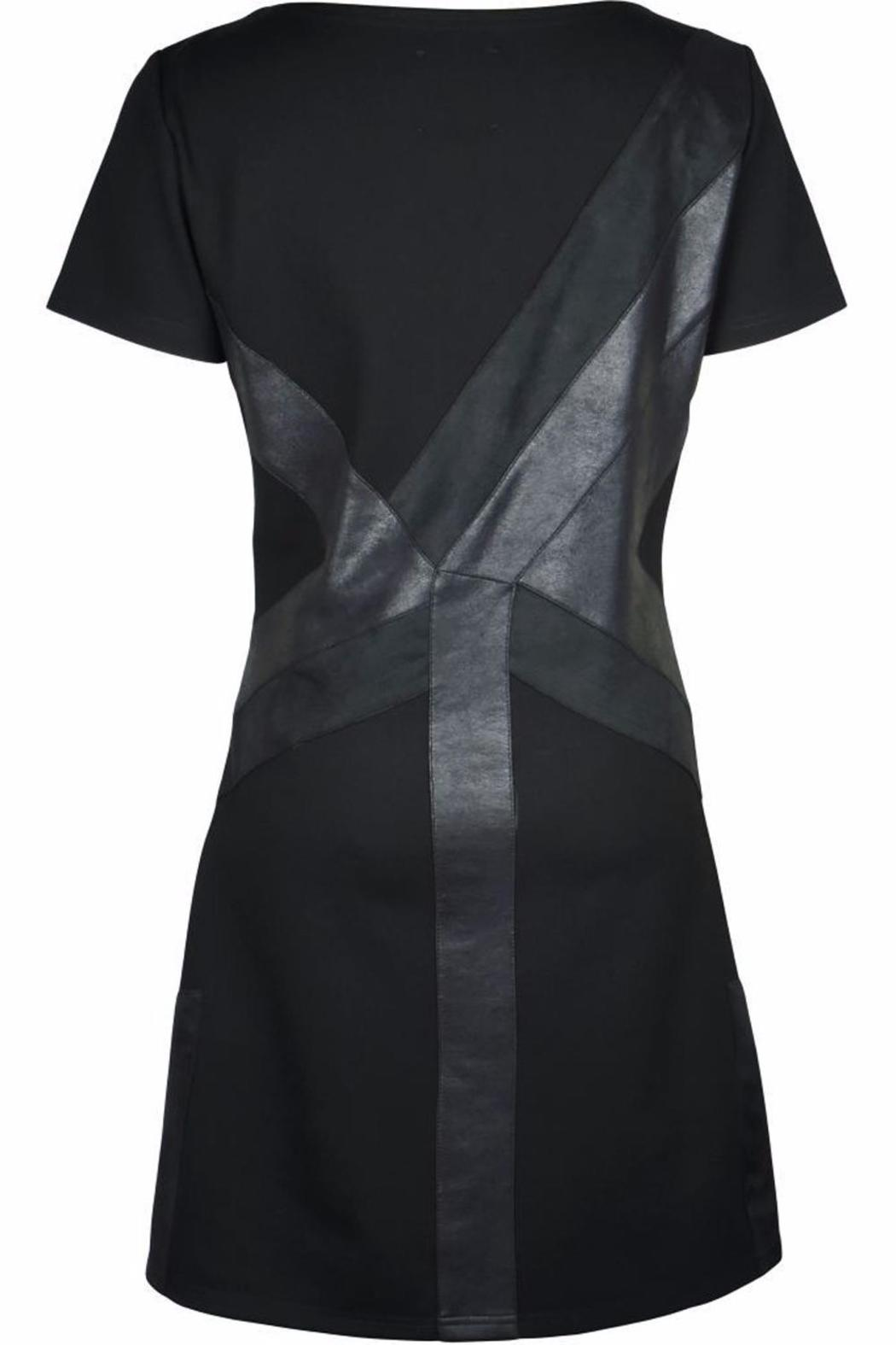 NU Denmark Black Geometric Dress - Main Image