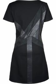NU Denmark Black Geometric Dress - Front cropped