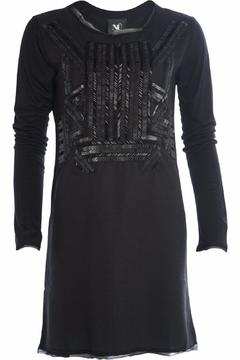 Shoptiques Product: Leather Sequin Tunic
