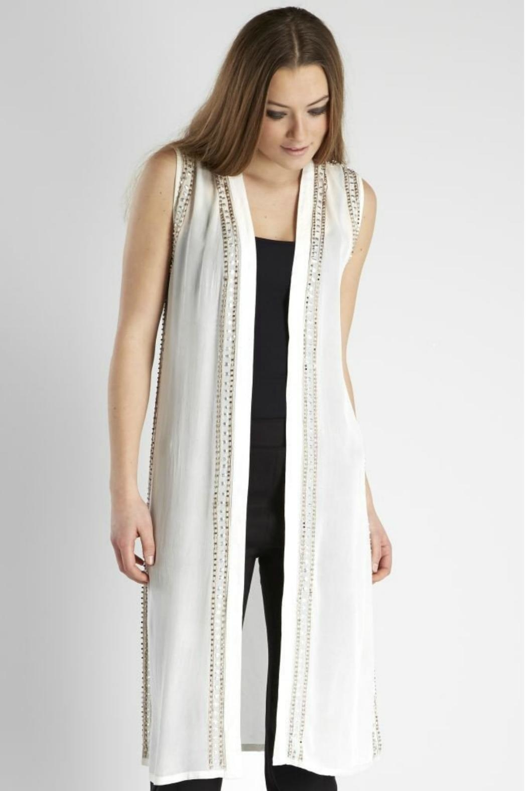 NU Denmark Vest With Beads - Main Image