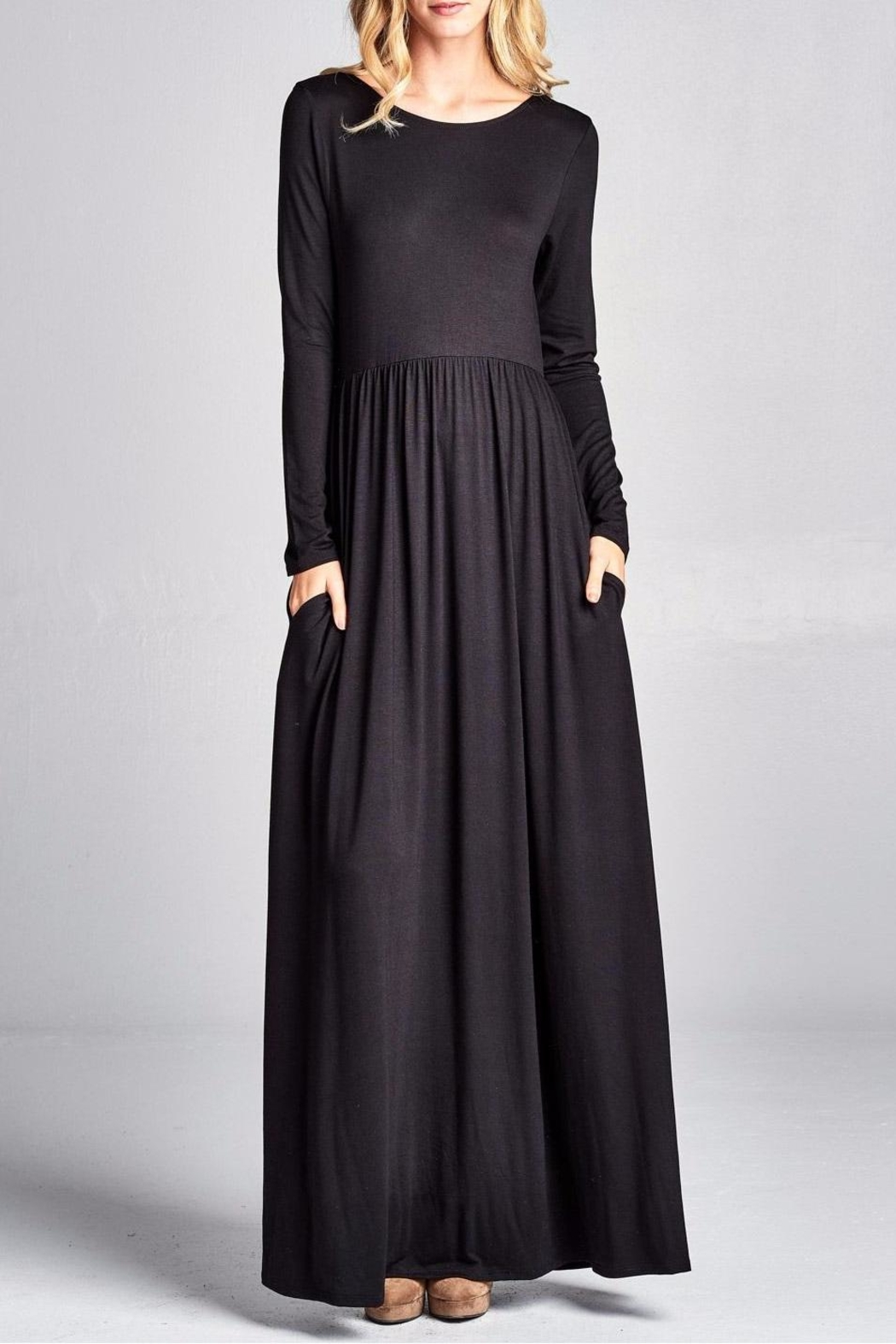 Nu Label Back Lace-Up Maxi - Front Full Image