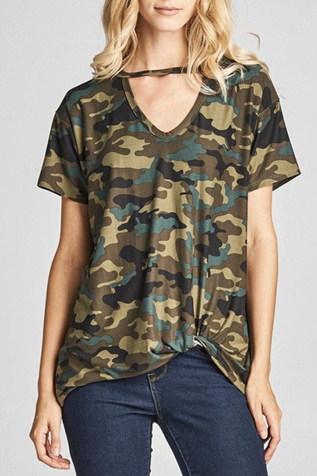 Nu Label Camo Chocker Tee - Front Cropped Image