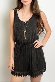 Nu Label Charcoal Scalloped Romper - Product Mini Image