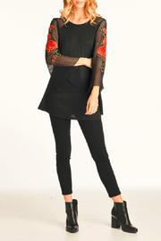 Nu Label Floral Mesh Sleeve Top - Product Mini Image