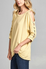 Nu Label Laceup Cold-Shoulder Tunic - Product Mini Image