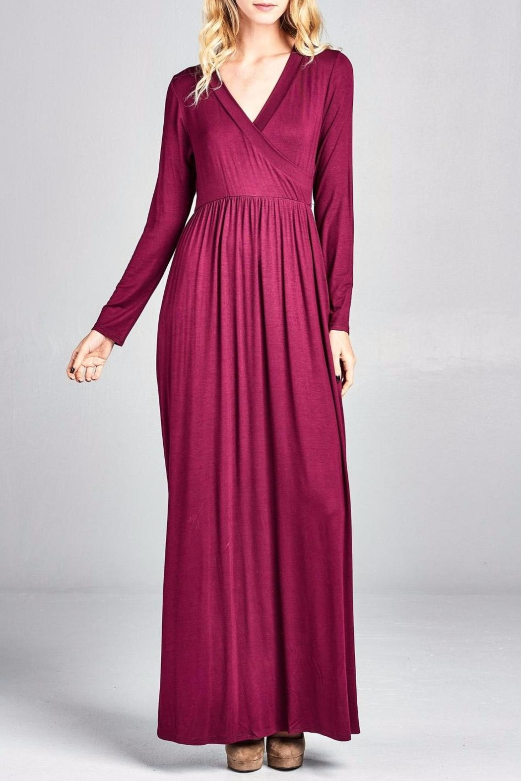 Nu Label Maxi-Dress With Pockets - Side Cropped Image
