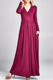 Nu Label Maxi-Dress With Pockets - Front full body