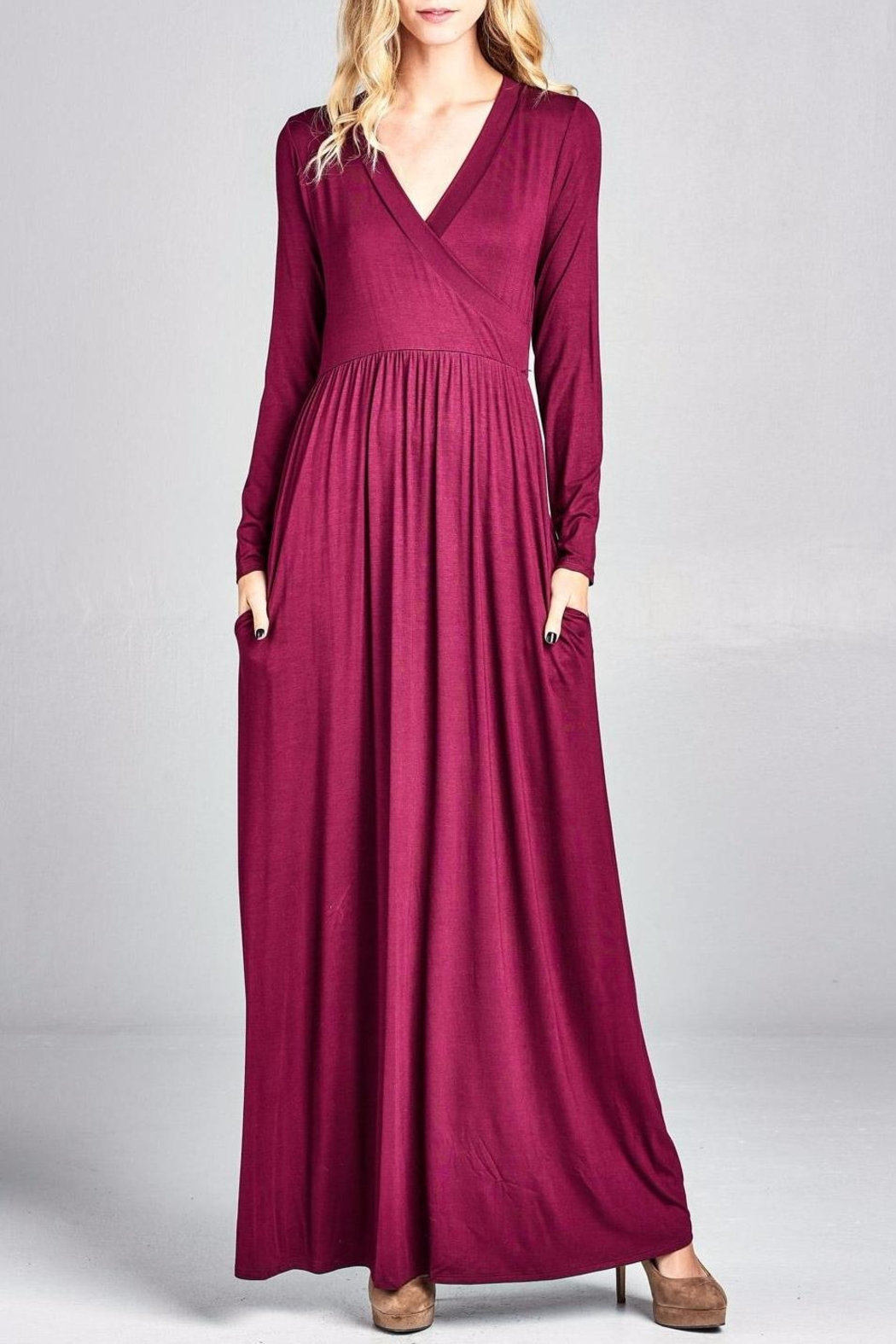 Nu Label Maxi-Dress With Pockets - Main Image