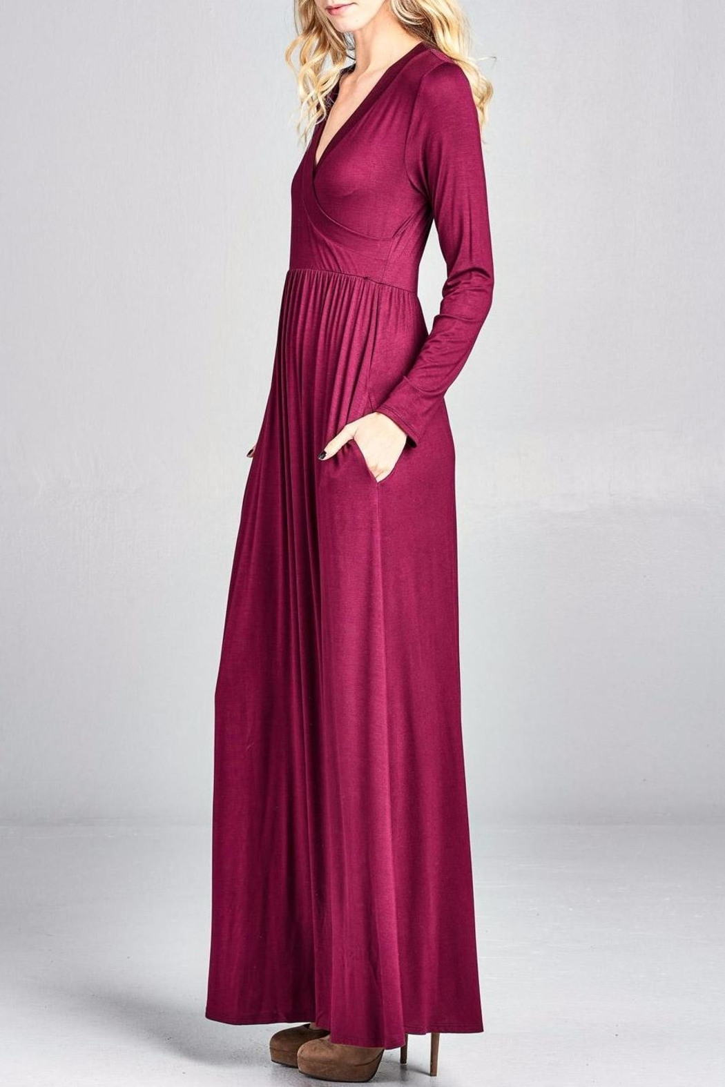 Nu Label Maxi-Dress With Pockets - Back Cropped Image