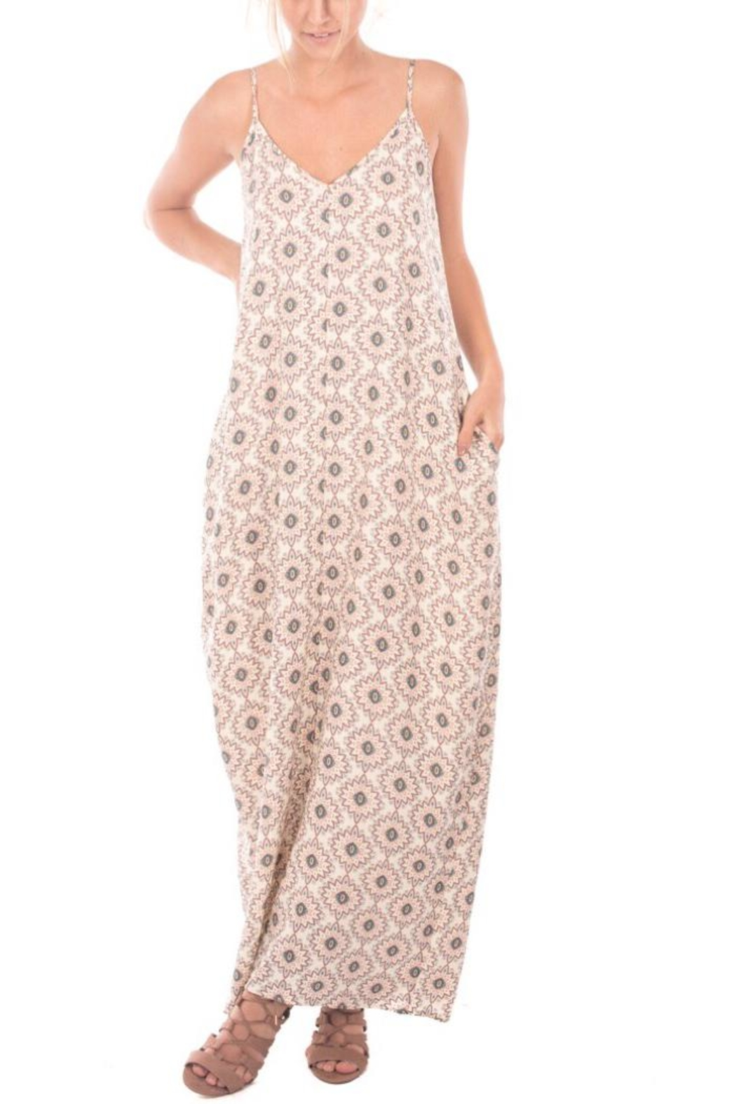 Nu Label Print Maxi Dress - Front Cropped Image