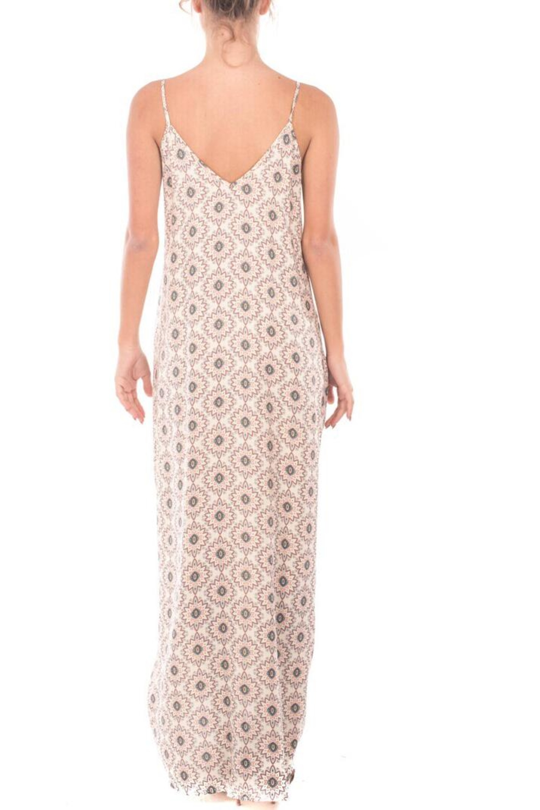 Nu Label Print Maxi Dress - Front Full Image
