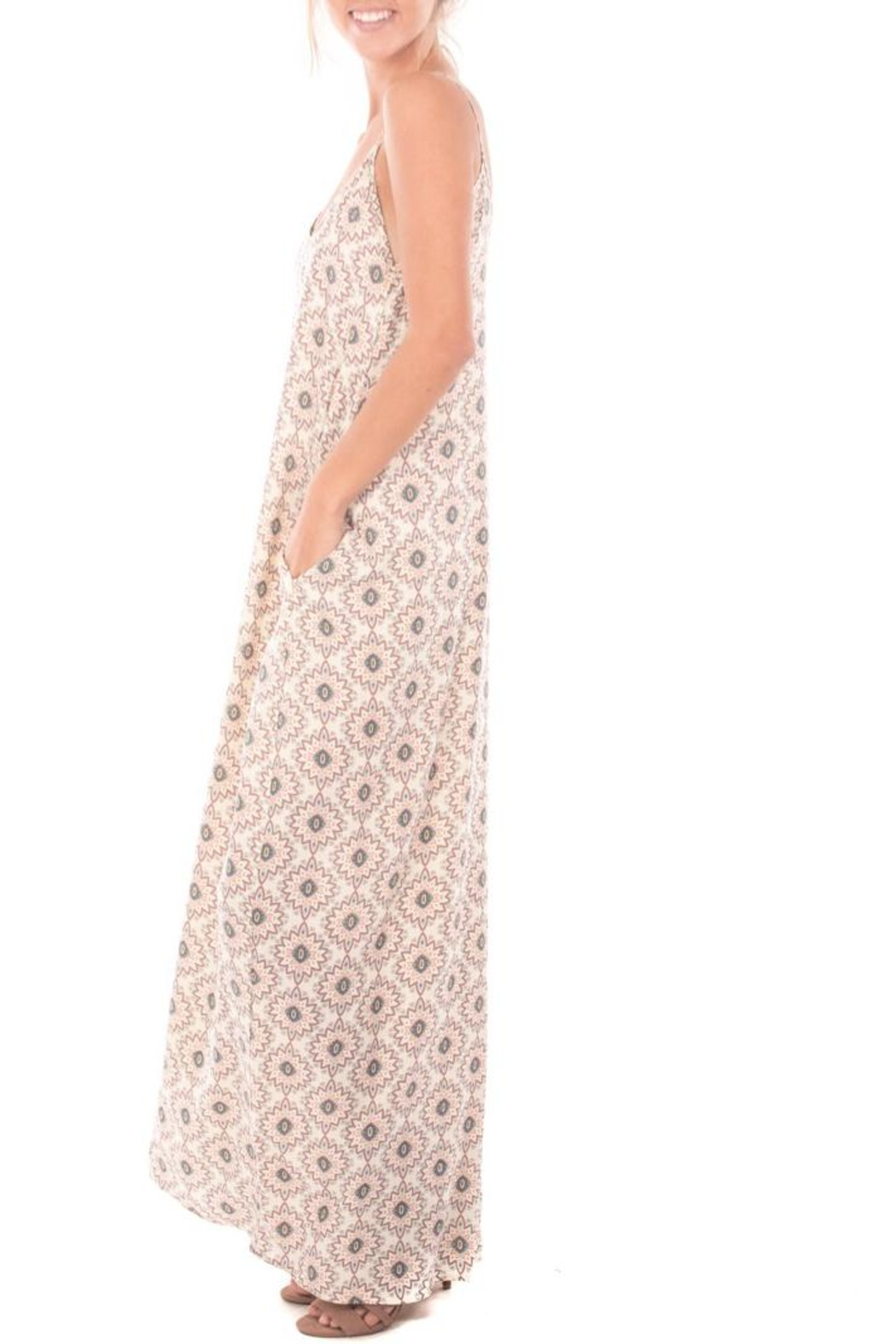 Nu Label Print Maxi Dress - Side Cropped Image