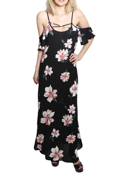 Shoptiques Product: Ruffle Sleeve Maxi Dress
